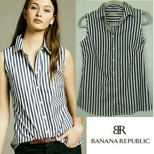 Banana Republic Non-Iron Stripe Button-down Shirt